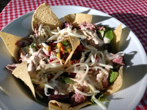 Cowboy Smokehouse Salad served as the sun sets from a long day of cattle-rustling!  (Photo Credit: Adroit Ideals)