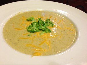 Creamy Broccoli Soup with Cheddar and Ham (Photo Credit: Adroit Ideals)