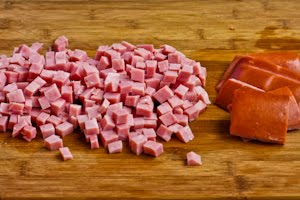 Diced Ham (Photo Credit: Kayln's Kitchen)