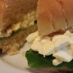 My Easy Egg Salad on a Potato Roll with Lettuce (Photo Credit: Adroit Ideals)