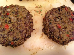 Form the black bean mixture into burgers (Photo Credit: Adroit Ideals)