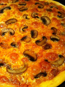 Cremini Mushroom and Oven-Roasted Tomato Pizza  (Photo Credit: Adroit Ideals)