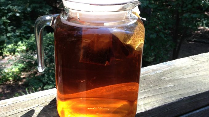 Sun-brewed iced tea