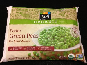 Whole Foods Market's 365 brand organic green peas (Photo Credit: Adroit Ideals)