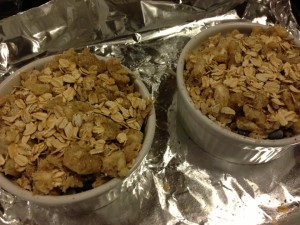 Individual Berry Crumbles ready for the Oven!  (Photo Credit: Adroit Ideals)