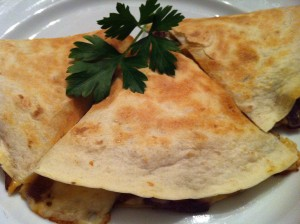Vegetable Quesadilla is a quick option for lunch or dinner!  (Photo Credit: Adroit Ideals)