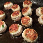 Saute the meatballs until they are browned and cooked through (Photo Credit: Adroit Ideals)
