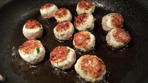 Saute the meatballs until they are browned and cooked through, turning over once (Photo Credit: Adroit Ideals)