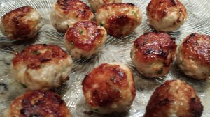 Sauteed Turkey Meatballs -- ready to eat! (Photo Credit: Adroit Ideals)