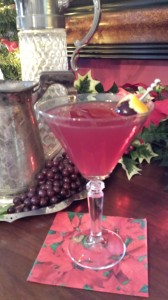 Christmas Cheer Cocktail is a refreshing beverage to celebrate the holidays!  (Photo Credit: Adroit Ideals)