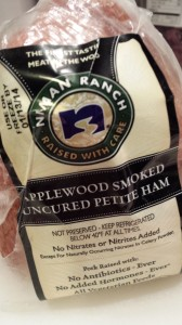 Niman Ranch's Applewood Smoked Uncured Petite Ham is a smoky addition to any dish (Photo Credit: Adroit Ideals)