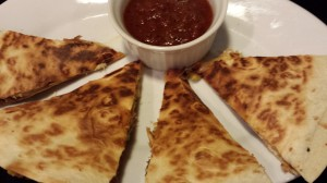 Smoked Pork and Green Chile Quesadilla served with Chipotle Salsa (Photo Credit: Adroit Ideals)