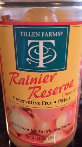 Tillen Farms' golden Rainier Reserve Cherries make a tasteful garnish for golden-colored cocktails (Photo Credit: Adroit Ideals)