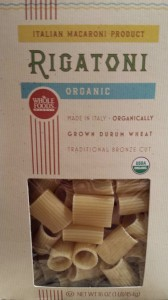 Whole Foods makes a great organic dried rigatoni pasta  (Photo Credit: Adroit Ideals)
