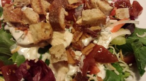 Crouton-topped Chicken BLT Salad (Photo Credit: Adroit Ideals)