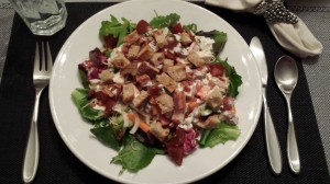 Chicken BLT Salad -- Hearty enough for a main course! (Photo Credit: Adroit Ideals)