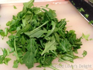 Chopped Arugula is a peppery addition to Creamed Spinach (Photo Credit: Adroit Ideals)