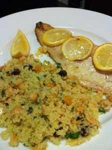 Rockfish with Apricot Almond Couscous (Photo Credit: Adroit Ideals)