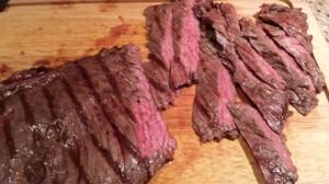 Sliced Grilled Skirt Steak for Fajitas (Photo Credit: Adroit Ideals)
