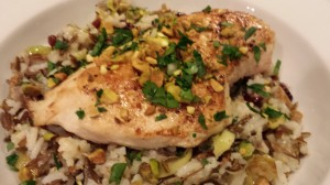 Wild Rice Medley topped with a Boneless Chicken Breast (Photo Credit: Adroit Ideals)