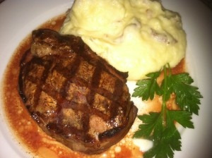 Grilled Filet Mignon Steak with Truffled Mashed Red Potatoes (Photo Credit: Adroit Ideals)