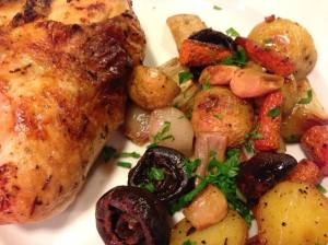 Serve these Herbes de Provence chicken breasts with my Roasted Vegetables (Photo Credit: Adroit Ideals)