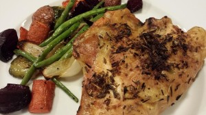 Roasted Vegetables served with Herbes de Provence Roasted Chicken Breast (Photo Credit: Adroit Ideals)