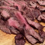 Sliced Marinated Skirt Steak for Fajitas (Photo Credit: Adroit Ideals)