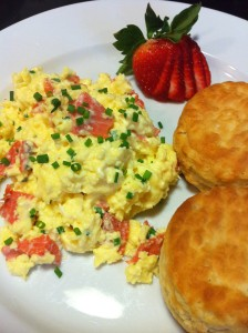Elegant Smoked Salmon and Scrambled Eggs is a brunch favorite! (Photo Credit: Adroit Ideals)