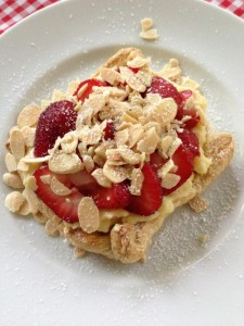 Easy Strawberry Almond Pastry Cream Tart  (Photo Credit: Adroit Ideals)