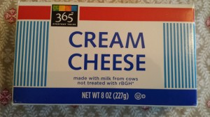 Whole Foods Market's 365 Brand Cream Cheese (Photo Credit: Adroit Ideals)