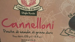 Good brand of cannelloni shells (Photo Credit: Adroit Ideals)