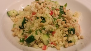 Citrus Shrimp Couscous Salad with Toasted Pine Nuts   (Photo Credit: Adroit Ideals)