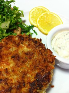 Tartar Sauce pairs nicely with a crab cake sandwich (Photo Credit: Adroit Ideals)