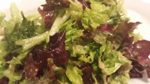 Simple salad of red and green leaf lettuces with Dijon Mustard Dressing (Photo Credit: Adroit Ideals)