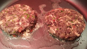 Saute the Spicy Black Bean Burgers (Photo Credit: Adroit Ideals)
