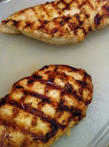Grilled chicken breasts are a tasty pizza topping (Photo Credit: Adroit Ideals)
