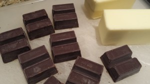 Chocolate and butter for the brownies (Photo Credit: Adroit Ideals)