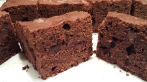 Chocolate Chip Brownies.  Great plain or with frosting.  (Photo Credit: Adroit Ideals)