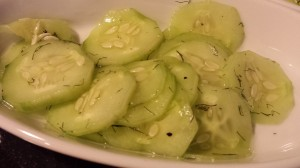 Simple Cucumber Salad with Fresh Dill (Photo Credit: Adroit Ideals)