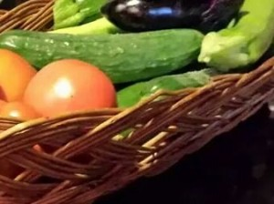 Just a few of the garden vegetables shared by our neighbor (Photo Credit: Adroit Ideals)
