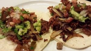 Pork Carnitas Tacos with Guacamole and Pico de Gallo (Photo Credit: Adroit Ideals)
