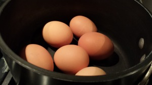 Add the eggs to the pan (Photo Credit: Adroit Ideals)