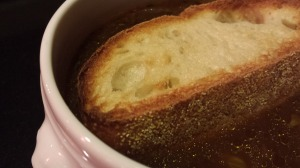 Float a toasted crouton in the soup (Photo Credit: Adroit Ideals)