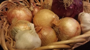 Use a selection of onions in this soup (Photo Credit: Adroit Ideals)
