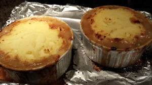 Bake the Shepherd's Pie until the filling is bubbling and the potatoes have browned (Photo Credit: Adroit Ideals)