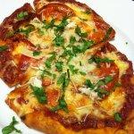 Pepperoni and Mozzarella on Garlic Flatbread makes a tasty quick pizza (Photo Credit: Adroit Ideals)