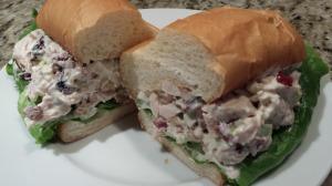 Chicken Cranberry Pecan Salad Sandwich is ready to devour! (Photo Credit: Adroit Ideals)