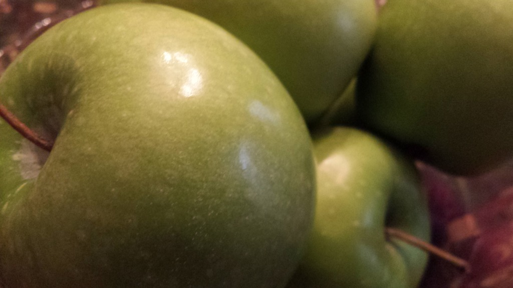 Tart and green Granny Smith Apples are a healthy addition to a chopped salad! (Photo Credit: Adroit Ideals)