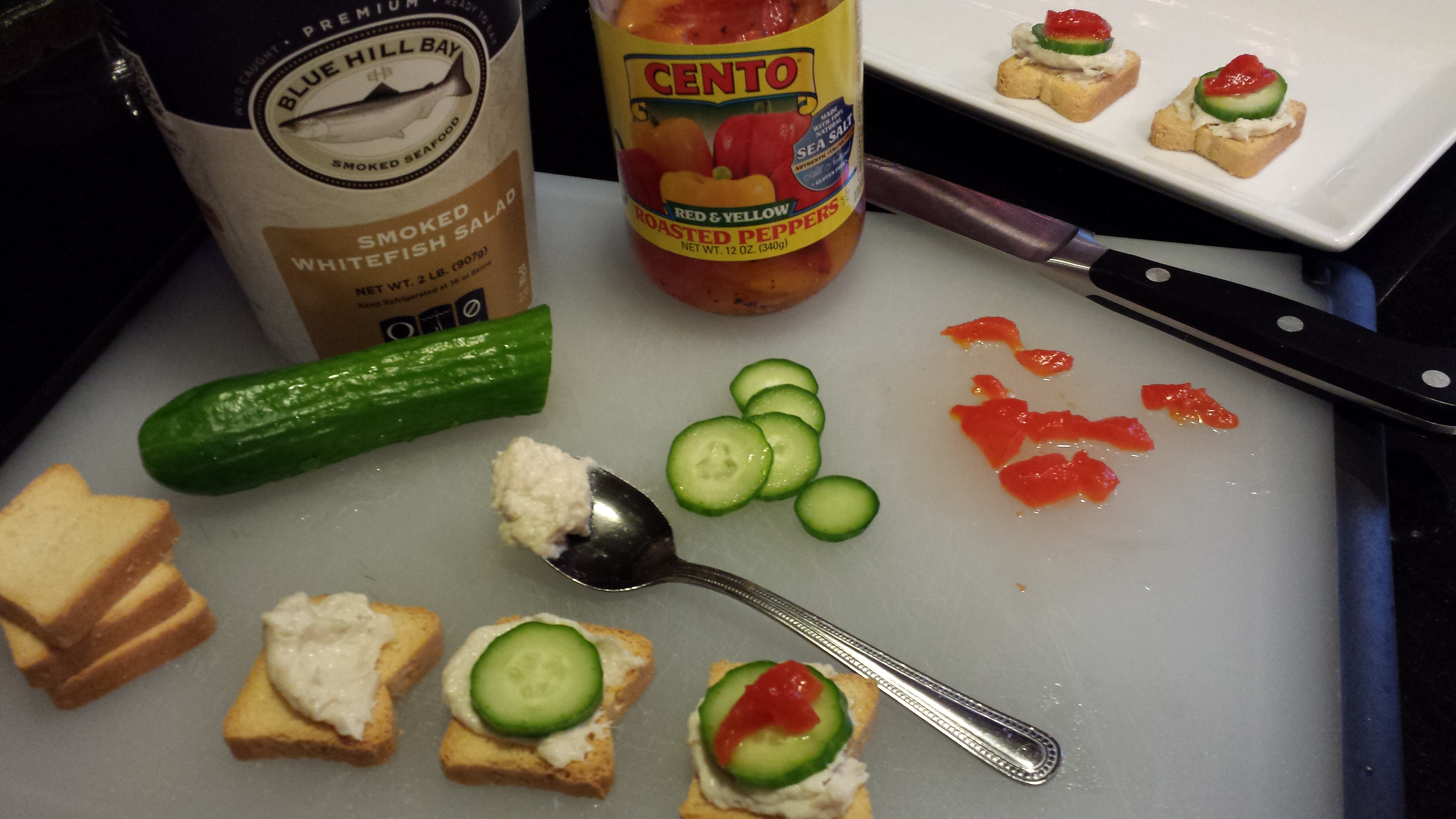 Smoked whitefish mini toasts a food lover 39 s delight for White fish dip recipe
